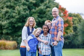 Brad and Kate Aldrich with their children